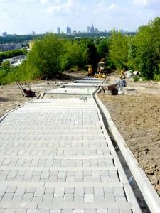 budowa schodów w 2004 r