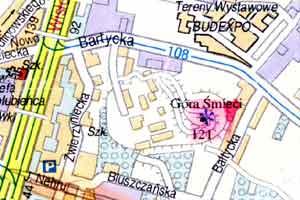 fragment planu Warszawy z 1995 r.