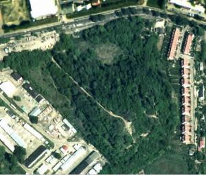 widok Kopca z satelity
