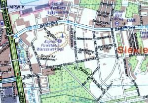 plan okolic Kopca