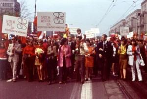 ETOBSYSTEM w pochodzie 1-majowym 1976 roku