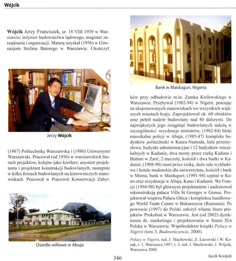 Strona z 5-tego tomu Encyklopedii Polskiej Emigracji i Polonii, Toruń 2005